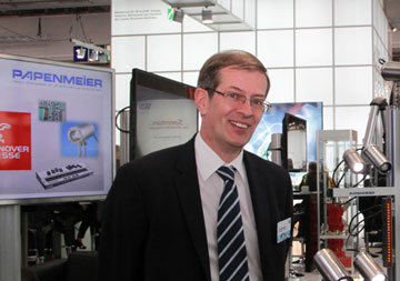 Armin Papenmeier 2013 at the Hannover trade fair