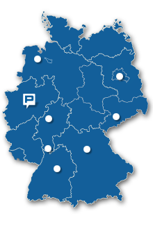 Map of Germany to choose your RehaDivision salesman